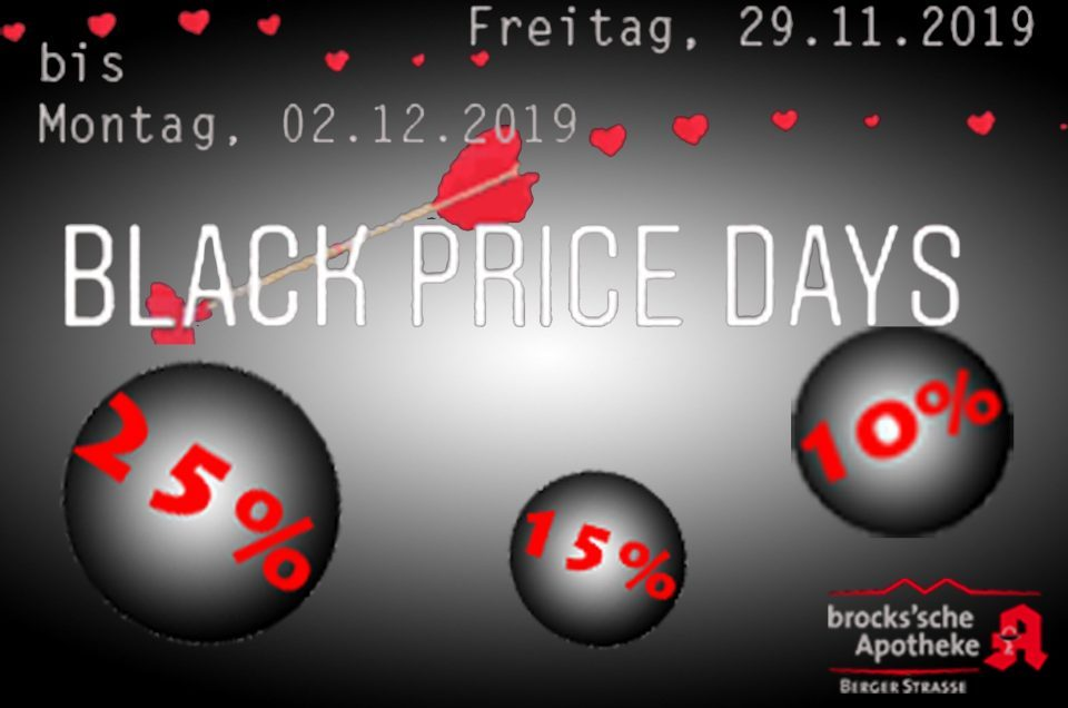 Black Price Days 29.11.2019 - 02.12.2019